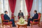 SM el Rey Mohammed VI recibe, en el palacio Real de Rabat, al jefe del Gobierno y al ministro de Sanidad