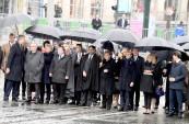 SM el Rey Mohammed VI participa, en el Palacio del Elíseo, en el almuerzo ofrecido por el presidente francés con motivo de la conmemoración del centenario del Armisticio del 11 de noviembre