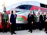 "HM King Mohammed VI and President of the French Republic, H.E. Emmanuel Macron, inaugurate, in Tangier, the ""Al BORAQ"" High Speed Train linking the cities of Tangier and Casablanca"