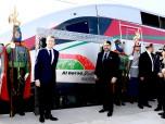 """SM el Rey Mohammed VI y el presidente francés Emmanuel Macron inauguran, en Tánger, el Tren de Alta Velocidad """"Al Boraq"""" que une Tánger a Casablanca"""