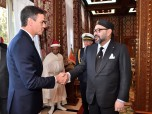 HM King Mohammed VI receives, at the Royal Palace in Rabat, His Excellency Pedro Sanchez, Spanish Prime minister