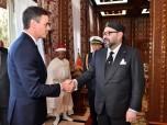 SM el Rey Mohammed VI recibe, en el Palacio Real de Rabat, a Su Excelencia Señor Pedro Sánchez, presidente del gobierno español