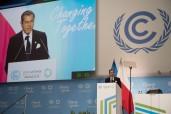 """صاحب السمو الملكي الأمير مولاي رشيد يتلو الرسالة اللملكية الموجهة للمشاركين في """"قمة القادة"""" المنعقدة في إطار الدورة 24 لمؤتمر الأطراف في اتفاقية الأمم المتحدة الإطار بشأن تغير المناخ"""