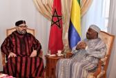 SM el Rey Mohammed VI visita al presidente gabonés, Ali Bongo Ondimba, en el hospital militar Mohammed V de Rabat