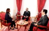 SM el Rey Mohammed VI recibe en el Palacio Real en Rabat, a Dounia Ben Abbas Taarji, nueva presidenta del directorio del Fondo Hassan II para el desarrollo económico y social