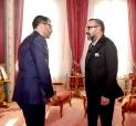 """SM el Rey Mohammed VI recibe en el Palacio Real en Rabat, a Obaid Amrane, nuevo director general del Fondo """"Ithmar Capital"""""""