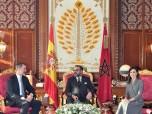 SM el Rey Mohammed VI se entrevista, en el Palacio Real en Rabat, con Su Majestad el Rey Don Felipe VI, Soberano de España