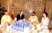 SM el Rey Mohammed VI ofrece, en el Palacio Real en Rabat, una cena oficial en honor a SM el Rey Don Felipe VI y la Reina Doña Letizia, Soberanos de España