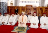 HM King Mohammed VI, Commander of the Faithful, Performs Friday Prayer at Palestine Mosque in Salé