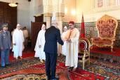 SM el Rey Mohammed VI recibe en el Palacio Real de Rabat a varios embajadores extranjeros