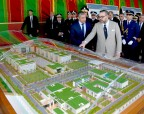 HM King Mohammed VI launches, in Ryad neighborhood in Rabat, the building works of the new headquarters of the national police (DGSN).