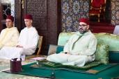 SM el Rey Mohammed VI, Amir Al Muminin, preside en el Palacio Real de Rabat la primera charla religiosa del mes de ramadán