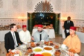 HM King Mohammed VI offers at the Royal Residence in Salé an Iftar in honour of Jared Kushner, Senior Advisor to the President of the United States of America