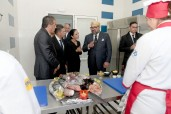 HM King Mohammed VI visits workshops of the training Centre for hotel and tourism professions in Temara