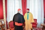 SM el Rey Mohammed VI recibe, en el Palacio Real de Rabat, al Cardenal Cristóbal López Romero, Arzobispo de Rabat