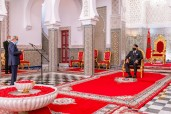 HM King Mohammed VI receives, at the Royal Palace in Tetouan, Abdellatif Jouahri, Wali of Bank Al-Maghrib.
