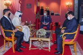 HM King Mohammed VI receives, at the Royal Palace of Fez, the Emirati Minister of Foreign Affairs an