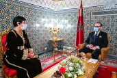 HM King Mohammed VI receives, at the Royal Palace of Fez, Zineb El Adaoui and appoints her as the Fi