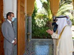 HRH Prince Moulay Rachid Receives the Kuwaiti Minister of Foreign Affairs Carrying Message from Emir