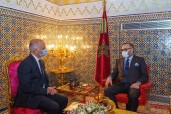 HM King Mohammed VI receives at the Royal Palace in Fez Mr. Chakib Benmoussa, president of the Speci