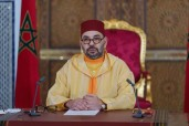 HM King Mohammed VI delivers a speech to the parliament on the occasion of the opening of the 1st se