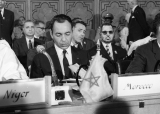 His Majesty Ve King Hassan II at the Wrst African Summit - Cairo, 1961