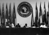 Working session of 9th africain Summit ,in the presence of the United Nations Secretary Mr. Kurt Waldheim