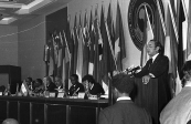 HM the King Hassan II at the opening session of the 9th African Summit - Rabat, 1972
