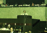 HM the King Hassan II at the african Unity Summit Nairobi, 1981