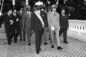 His Royal Highness Prince Moulay Hassan and the Guinean leader Ahmed Sékou Touré - Rabat, 1959