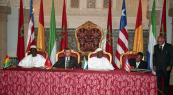 HM King Mohammed VI presided over the signing ceremony of the minutes of the meeting between the leaders of Guinea, Sierra Leone and Liberia - Rabat, 2002