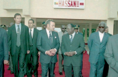 Inauguration of an university residence «Hassan II» in Porto-Novo - Benin, 2004