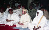 HM King Mohammed VI performs Friday prayer, accompanied by President Mamadou Tandja of Niger - Niamey, 2004