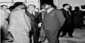 جلالة الملك الحسن الثان رفقة الزعيم الكونغولي السيد پاتريس لومومبا