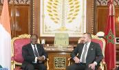 SM el Rey Mohammed VI recibe,en el palacio Real en Rabat, al presidente de la República de Costa de Marfil, Su Excelencia Alassane Dramane Ouattara