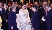 صاحبة السمو الملكي الاميرة للا حسناء تحضر حفل استقبال رسمي أقامته الحكومة اليابانية على هامش المؤتمر العالمي الذي تنظمه منظمة الامم المتحدة للتربية والعلوم والثقافة (اليونسكو) حول التربية والتنمية المستدامة