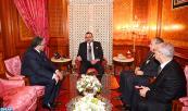 SM el Rey recibe, en el Palacio Real en Casablanca, al ministro de Justicia y Libertades, Mustapha Ramid, y al ministro de Habices y Asuntos Islámicos, Ahmed Toufiq