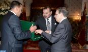 HM King Mohammed VI receives, at Casablanca's royal palace, the High Commissioner for Planning Ahmed Lahlimi Alami