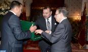 SM el Rey Mohammed VI recibe, en el Palacio Real en Casablanca, al Alto Comisario de Planificación, Ahmed Lahlimi Alami