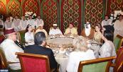 SM el Rey Mohammed VI ofrece, en el Palacio Real de Rabat, una cena en honor de las personalidades invitadas a las fiestas de boda de SAR el Príncipe Moulay Rachid