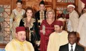 HM King Mohammed VI offers, at the Royal Palace in Marrakech, an official dinner in honour of President of the Republic of Côte d'Ivoire, HE Alassane Dramane Ouattara