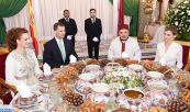 SM el Rey Mohammed VI ofrece, en el Palacio Real en Rabat, un Iftar oficial en honor de SM el Rey Felipe VI de España y de la Reina Letezia