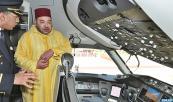 SM el Rey Mohammed VI preside, en el aeropuerto internacional Mohammed V de Casablanca, la ceremonia de la presentación del Boeing 787 Dreamliner de la RAM