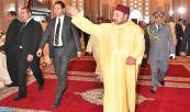 SM el Rey Amir Al Muminin cumple la oración del viernes en la mezquita Hassan II en Casablanca