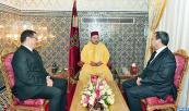 SM el Rey Mohammed VI recibe, en el Palacio Real en Fez, a Abdellatif Zaghnoune, que el Soberano nombró como director general de la Caja de Depósito y de Gestión (CDG)
