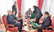 SM el Rey Mohammed VI recibe, en el Palacio Real de Rabat, al jefe del Gobierno, al ministro de Interior, al ministro de Economía y Finanzas y al primer presidente del Tribunal de Cuentas