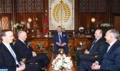SM el Rey Mohammed VI recibe, en el Palacio Real de Rabat, a Laurent Fabius, ministro de Asuntos Exteriores y Desarrollo Internacional de la República Francesa
