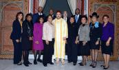 "HM the King receives in Marrakech Marcia Fudge, president of ""African-American Parliamentary Group Elected Congress"""