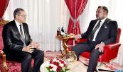 Su Majestad el Rey Mohammed VI recibe, en el Palacio Real de Rabat, Mohand Laenser, secretario general del partido del Movimiento Popular (MP)