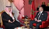 HM King Mohammed VI receives, at the Royal Palace in Fez, HRH Prince Khaled Bin Bandar Bin Abdulaziz